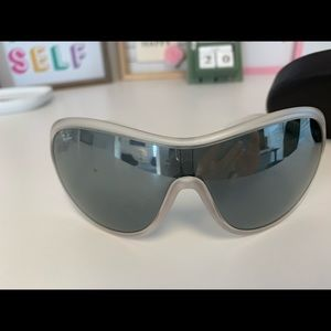 Ray Ban #4096 Matte Frosted Crystal White Glasses